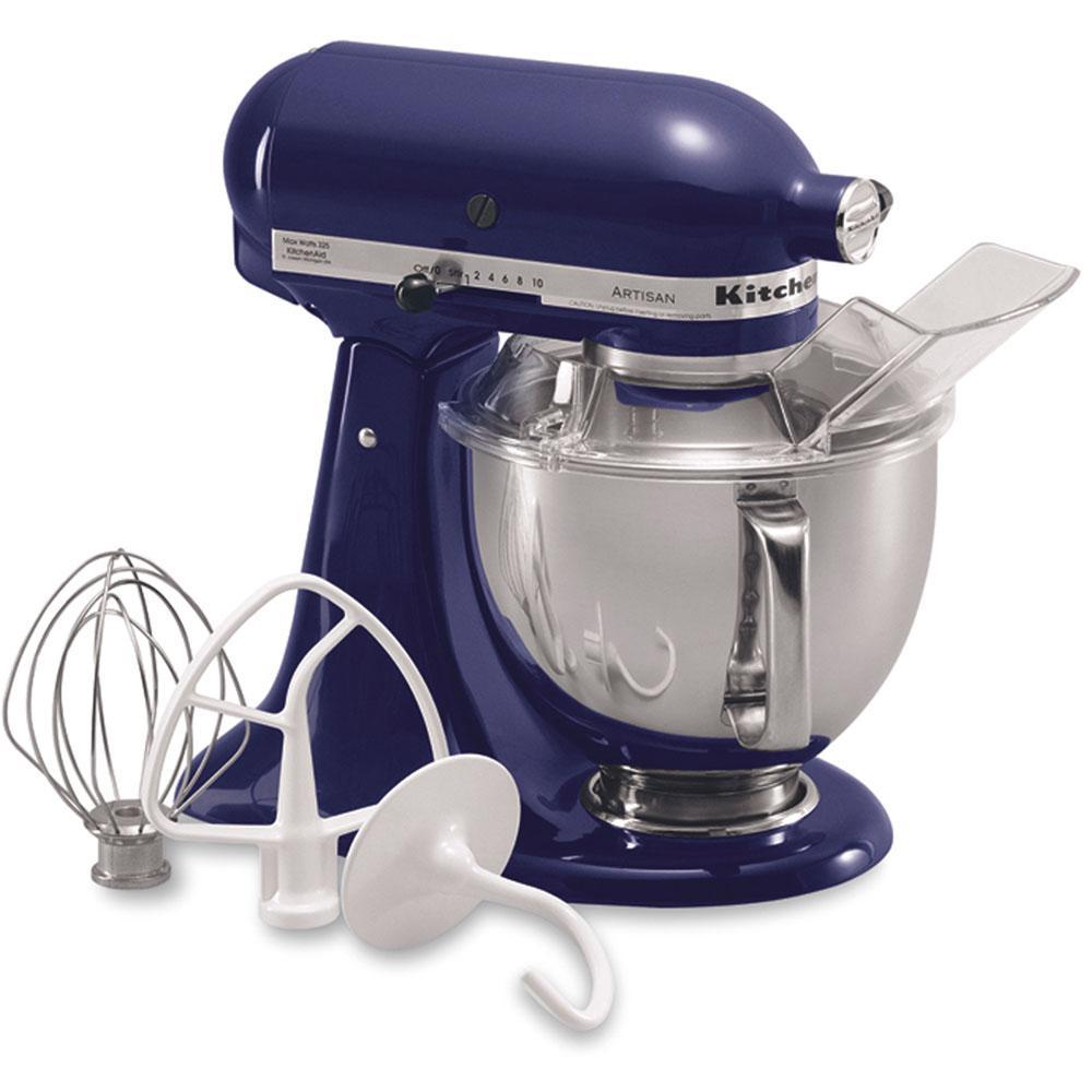 Internet #100497587. KitchenAid Artisan 5 Qt. Cobalt Blue Stand Mixer