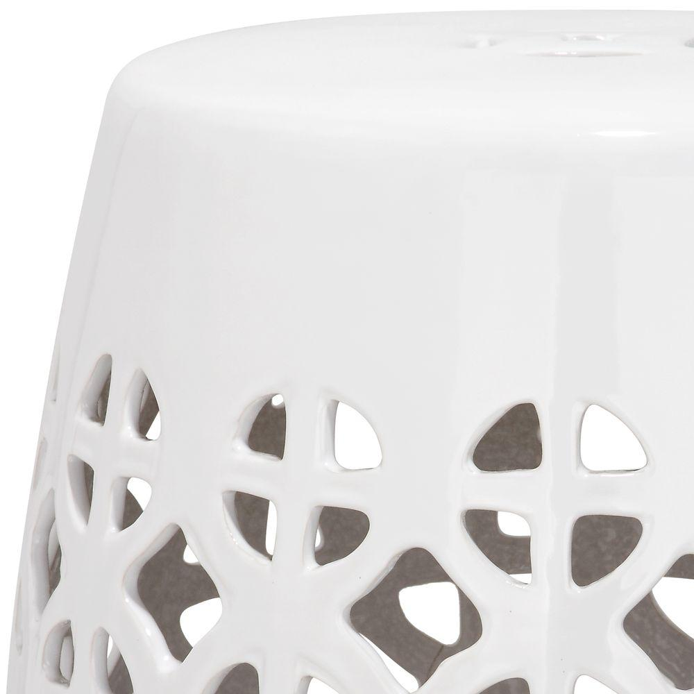 Super Safavieh Circle Lattice White Ceramic Patio Stool Gmtry Best Dining Table And Chair Ideas Images Gmtryco