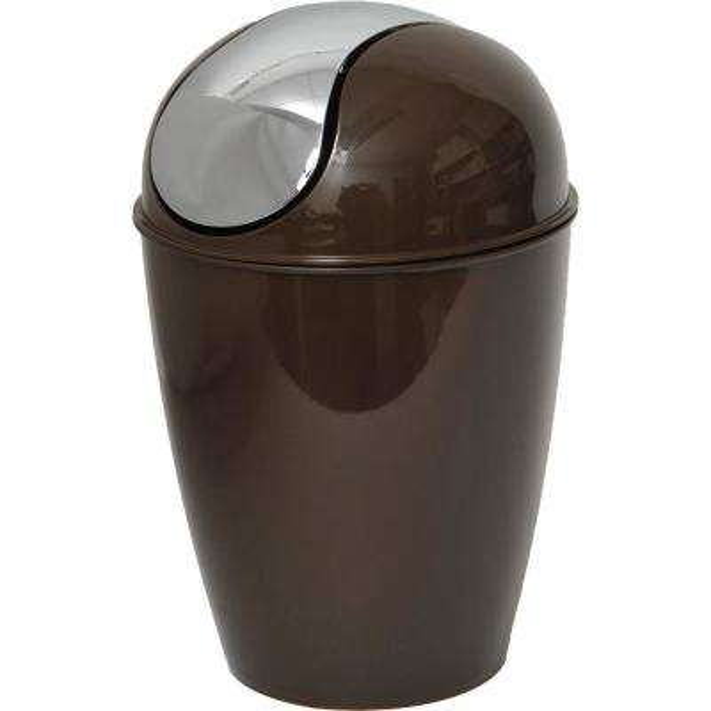 4.5 l/1.2 Gal. Round Bath Floor Trash Can Waste Bin in Brown