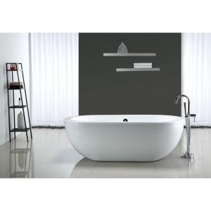 OVE Decors Serenity 5.9 ft. Center Drain Bathtub in White by OVE Decors