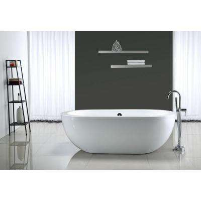 Serenity 5.9 ft. Center Drain Bathtub in White