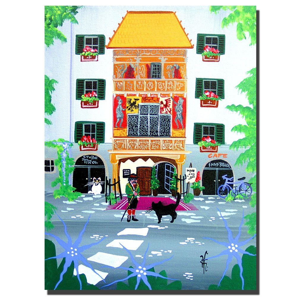 47 in. x 35 in. The Golden Roof Canvas Art