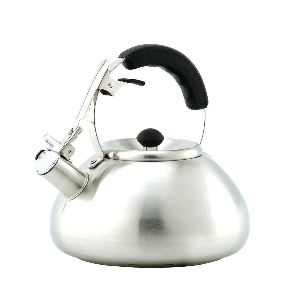 Creative Home Savanah 12-Cup Stovetop Tea Kettle in Silver