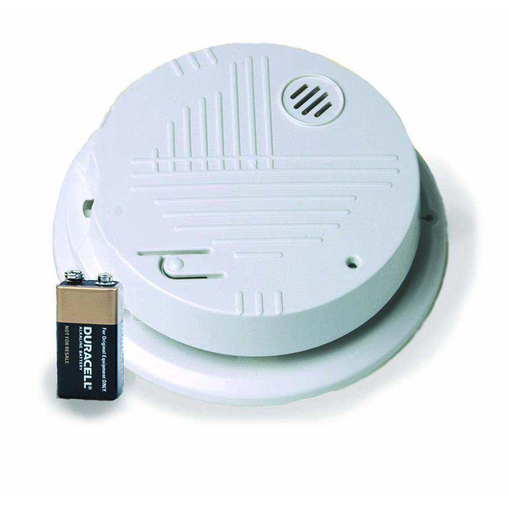 Gentex Hardwired Interconnected Photoelectric Smoke Alarm with Battery Backup and Temporal 3 Sounder