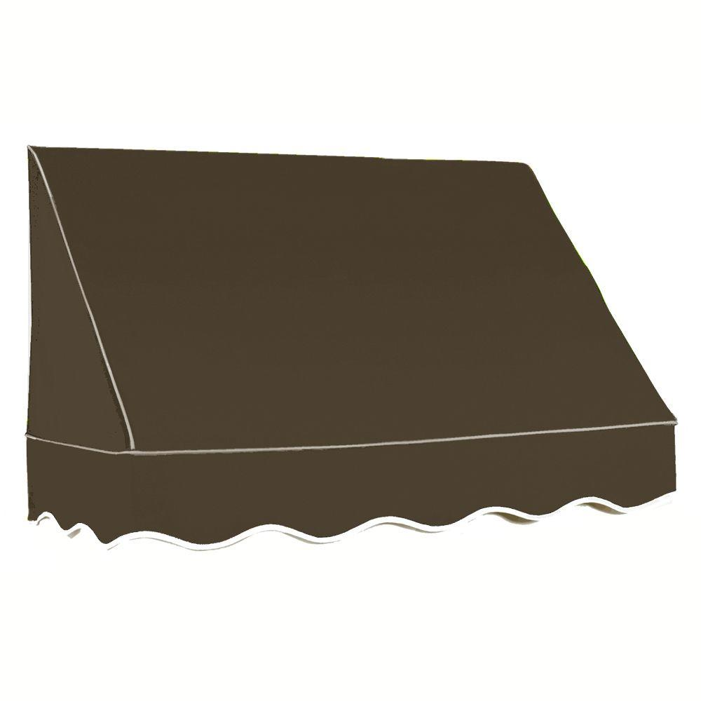 AWNTECH 8 ft. San Francisco Window Awning (44 in. H x 24 in. D) in Brown