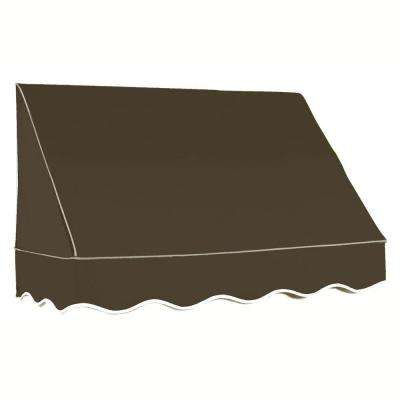 3 ft. San Francisco Window/Entry Awning (44 in. H x 48 in. D) in Brown