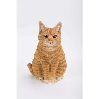 Orange Tabby Cat Sitting Statue