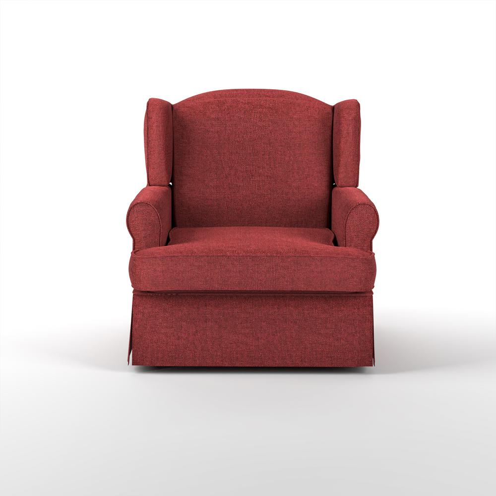 Furniture of America Maya Red Wingback Glider Rocker What a cozy design of this glider rocker, When you are home after a long day. Sit on the extra padded cushion seat and pillow like seat back. Leaning your head on the wingback and rest your hand on the rolled armrest. It just kill all of your tiredness, forget everything about the day you have been through, and just enjoy and relax the moment that Maya Wingback Glider Rocker provided.