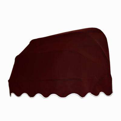 3 ft. Georgia Retractable Elongated Dome Awning (31 in. H x 24 in. D) in Burgundy