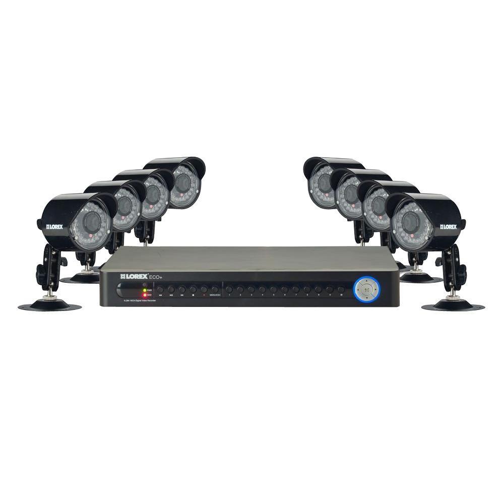 Lorex Vantage Eco+ 16-Channel 500GB Surveillance System with (8) 420 TVL Indoor/Outdoor Security Cameras-DISCONTINUED
