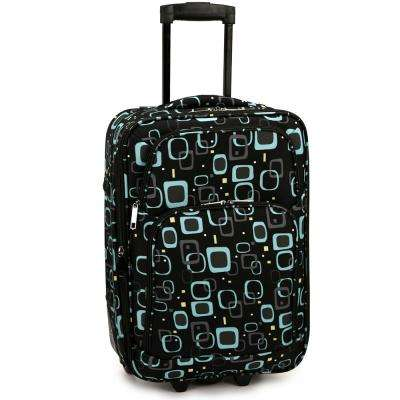 Retro Square Carry-On Rolling Luggage
