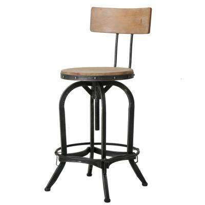39 in. Ximen Antique Adjustable Bar Stool