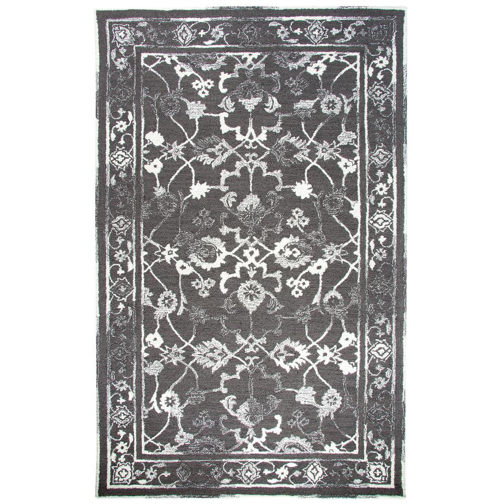 Avalon Charcoal/Ivory 2 ft. x 4 ft. Indoor Area Rug