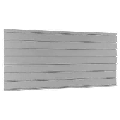 Bold 3.0/Performance 2.0 22.87 in. H x 48 in. W x 0.5 in. D Steel Garage Slatwall Backsplash in Silver
