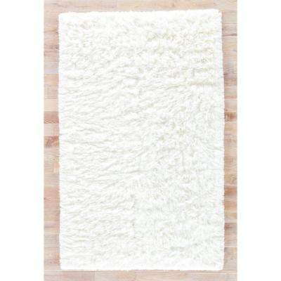 Shag Star White 9 ft. x 12 ft. Solid Area Rug