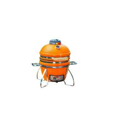 Cadet Kamado Charcoal Grill in Orange