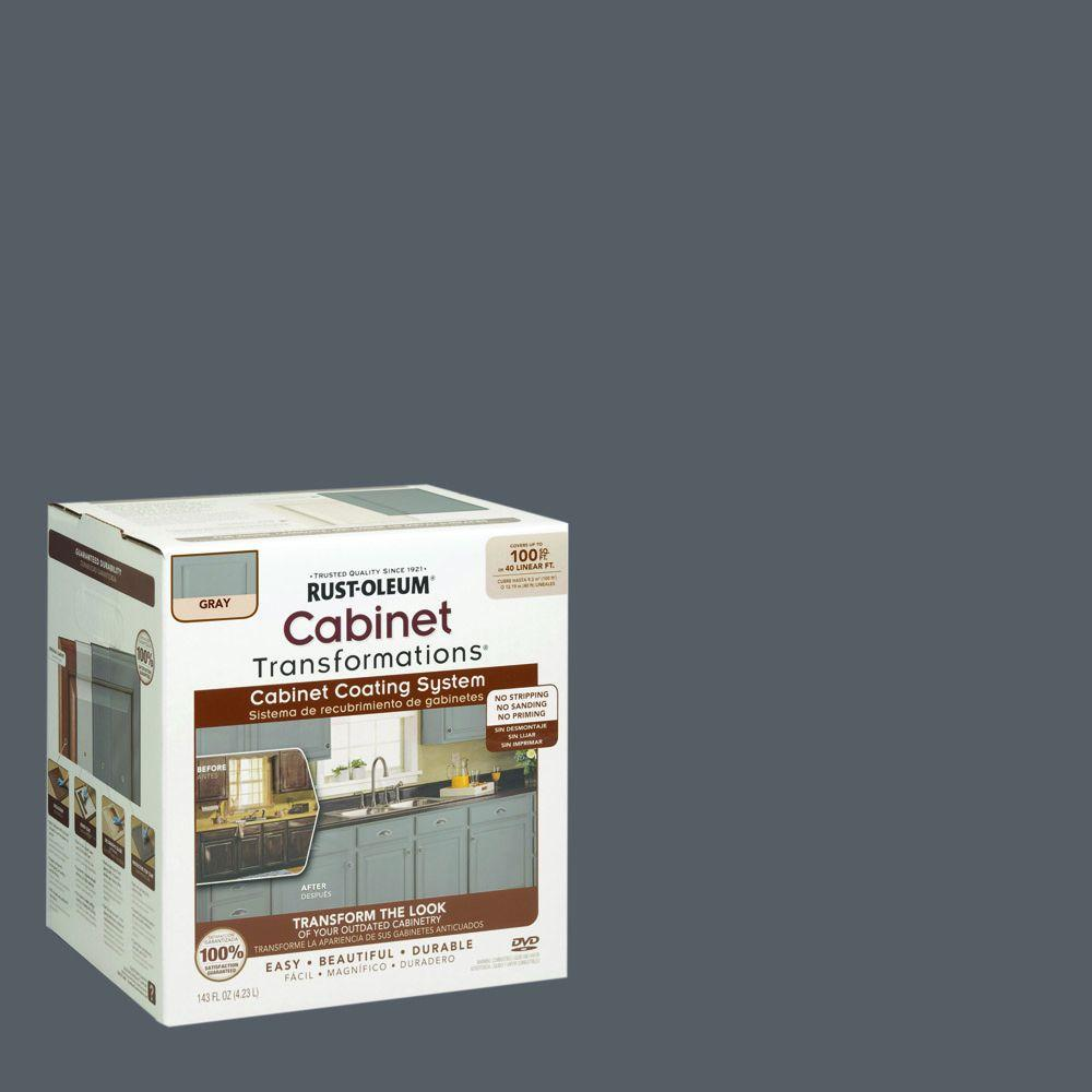 Rust-Oleum Transformations 1 qt. Gray Cabinet Small Kit-302137 ...