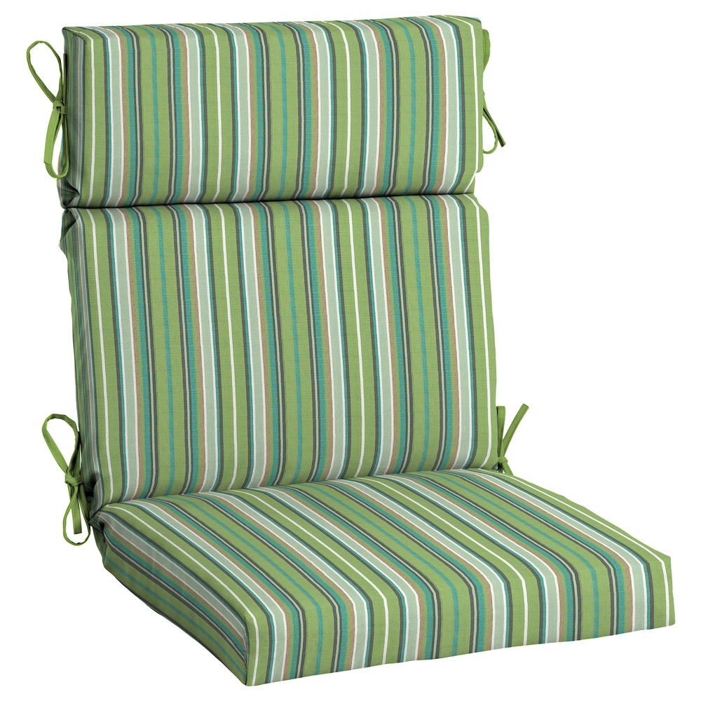 home decorators collection sunbrella foster surfside high back outdoor dining chair cushion. Black Bedroom Furniture Sets. Home Design Ideas