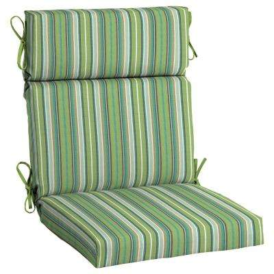 21 5 X 44 Sunbrella Foster Surfside High Back Outdoor Dining Chair Cushion