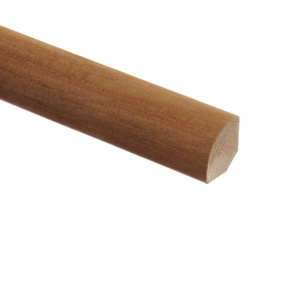 Zamma Vintage Oak Natural/Pasture Oak 5/8 in. Thick x 3/4 in. Wide x 94 in. Length Vinyl Quarter Round Molding