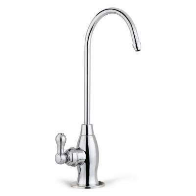 Drinking Water Coke Shaped High-Spout Faucet For Water Filtration Systems in Chrome