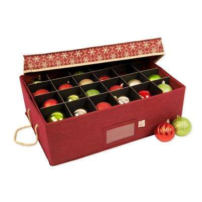 Top Lid Style Gift Ornament Storage Box (2-Tray)