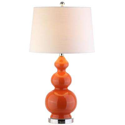 Bowen 27.5 in. Coral Ceramic Table Lamp