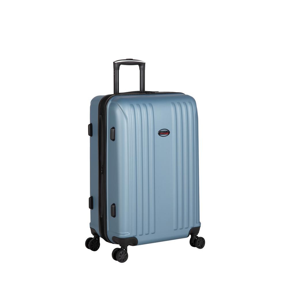 Moraga 26 in. Dusk Blue 8-Wheel Hard Side Spinner Luggage