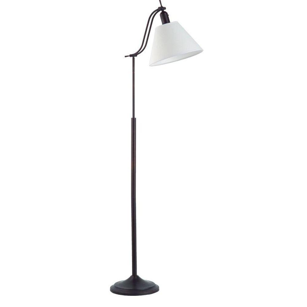 OttLite 60 in. Adjustable Arm Antiqued Bronze Floor Lamp-DISCONTINUED