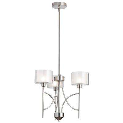 Delano 3-Light Satin Chrome Chandelier