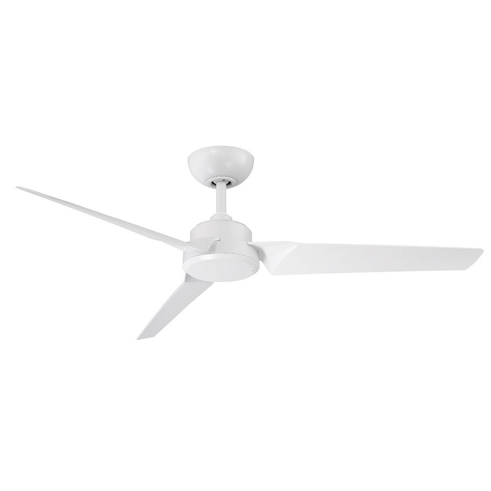 Modern Forms Roboto 52 in. Indoor/Outdoor Matte White 3-Blade Smart Ceiling Fan with Wall Control