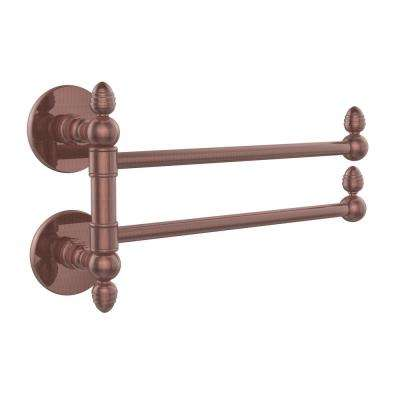 Prestige Skyline Collection 2 Swing Arm Towel Rail in Antique Copper