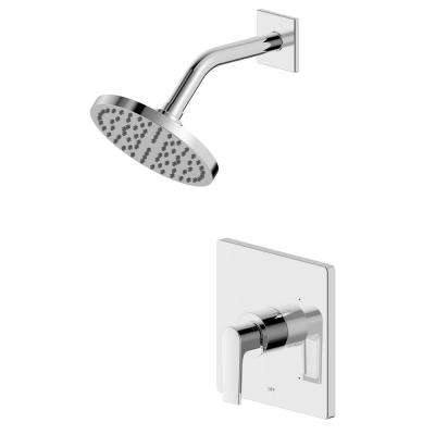 Chatelet Single-Handle 1-Spray Settings Round Shower Faucet Set in Chrome with Pressure Balance Valve Included