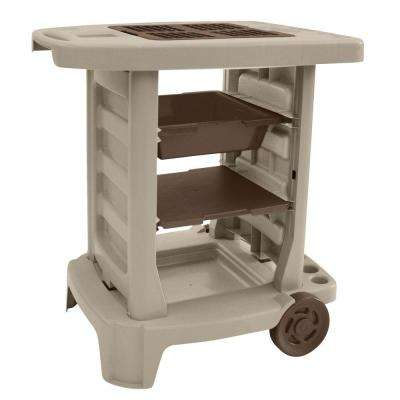 Portable 33 in. x 33 in. Resin Garden Cart