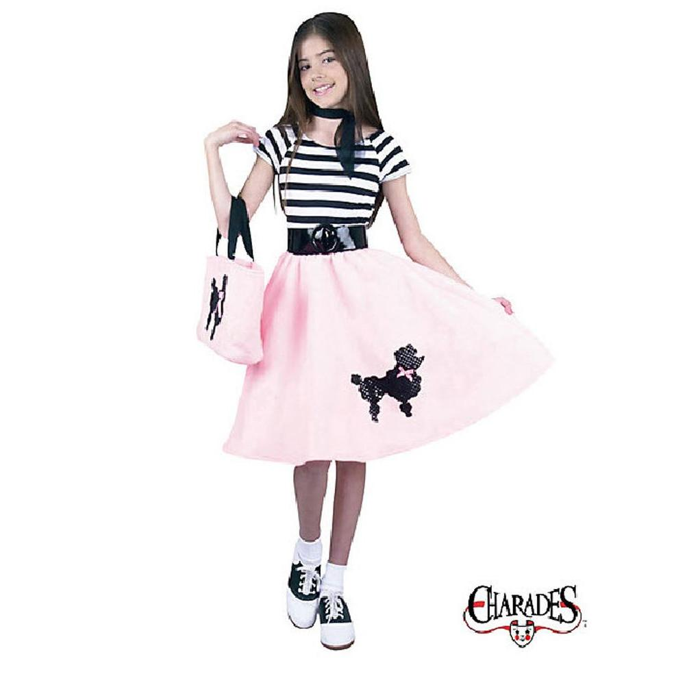 Charades Poodle Skirt Child Costume Ch00334 S The Home Depot