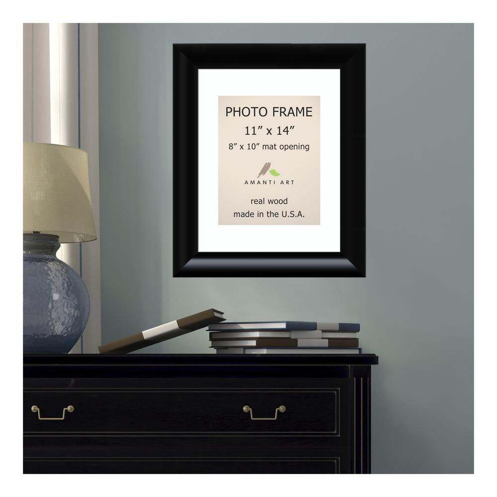 Amanti Art Steinway 8 In X 10 In White Matted Black Picture Frame