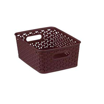 7.37 in x 4 in. Brown Basket