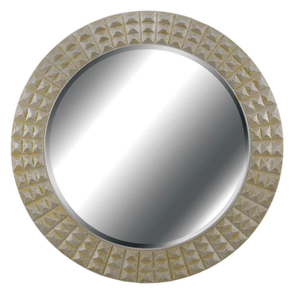 Home Decorators Collection Bezel 32 in. Round Polyurethane Framed Mirror