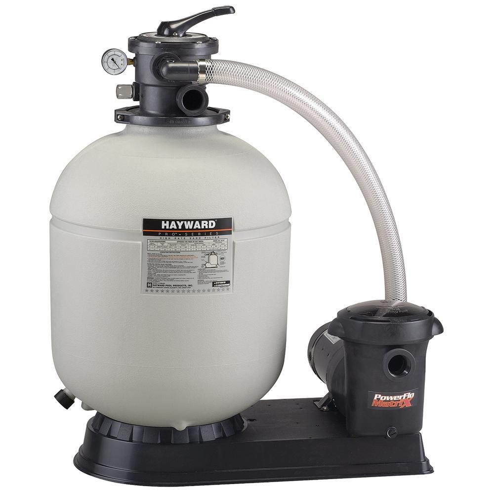 Hayward ProSeries 18 in. 1 HP Power Flo Pump Sand Filter ...