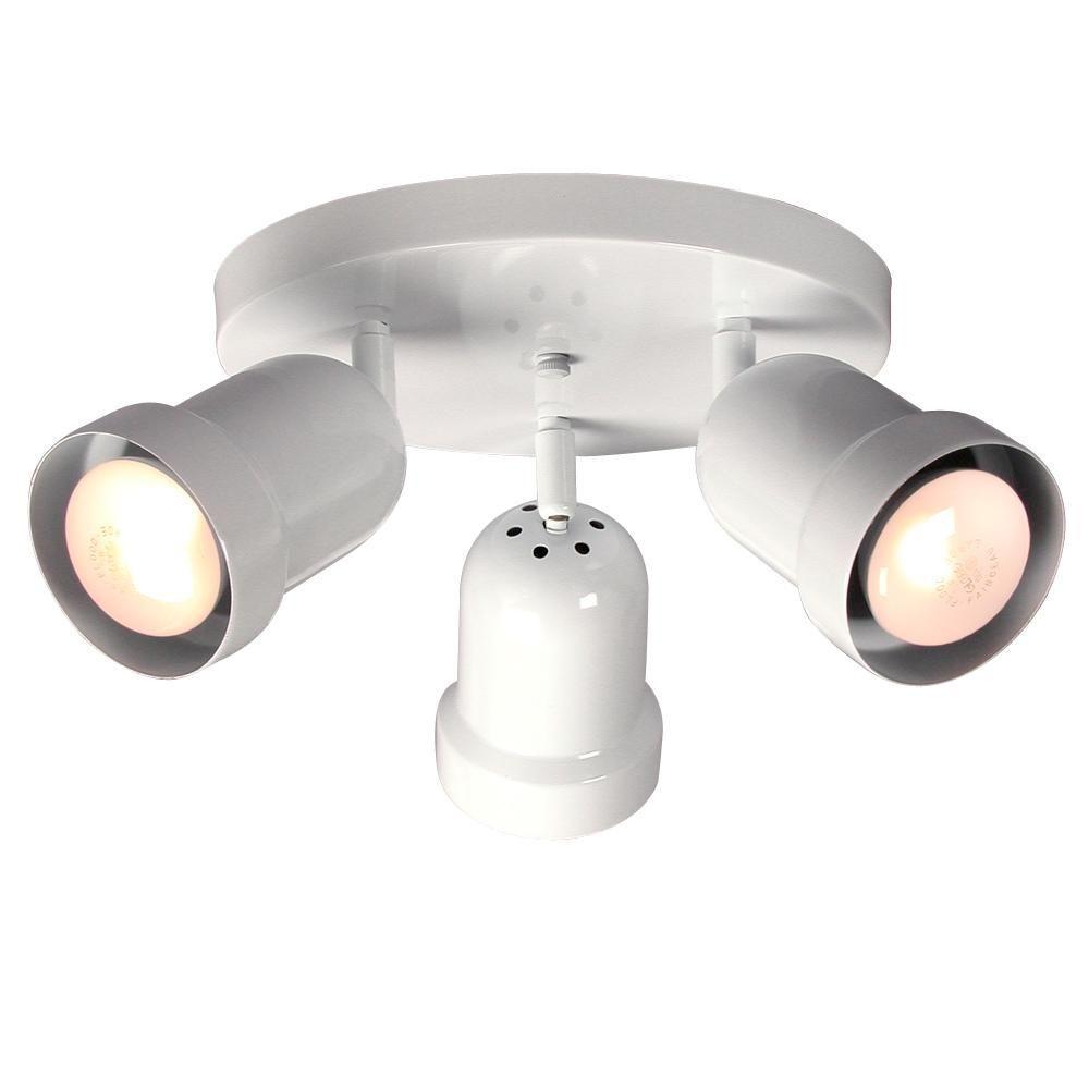 Filament design negron 3 light white track head spotlight for Spotlight design