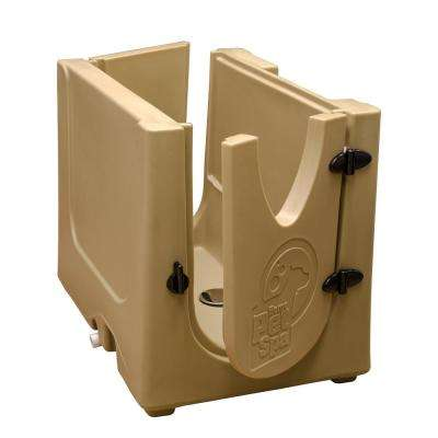 35 in. x 24.7 in. Pet Shower and Grooming Enclosure in Desert Sand