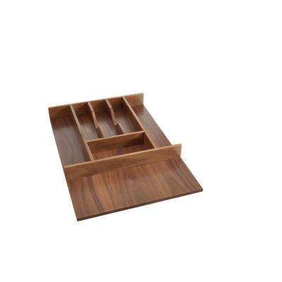 Short Walnut Cutlery Tray Insert