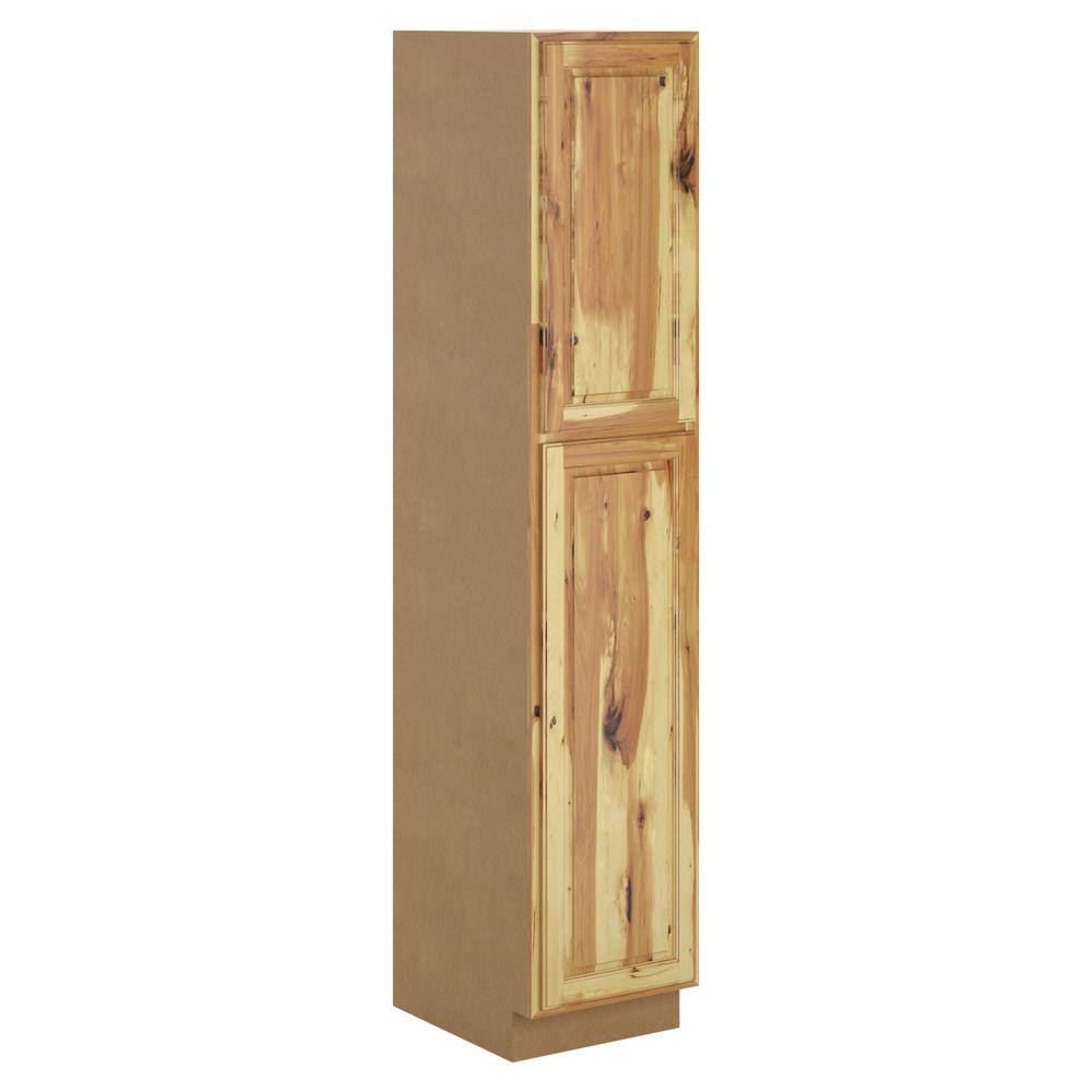 hampton bay madison assembled 18x96x24 in pantry cabinet in hickory p1896 mhk the home depot. Black Bedroom Furniture Sets. Home Design Ideas