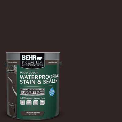 1 gal. #T-104 Cordovan Brown Solid Color Waterproofing Stain and Sealer