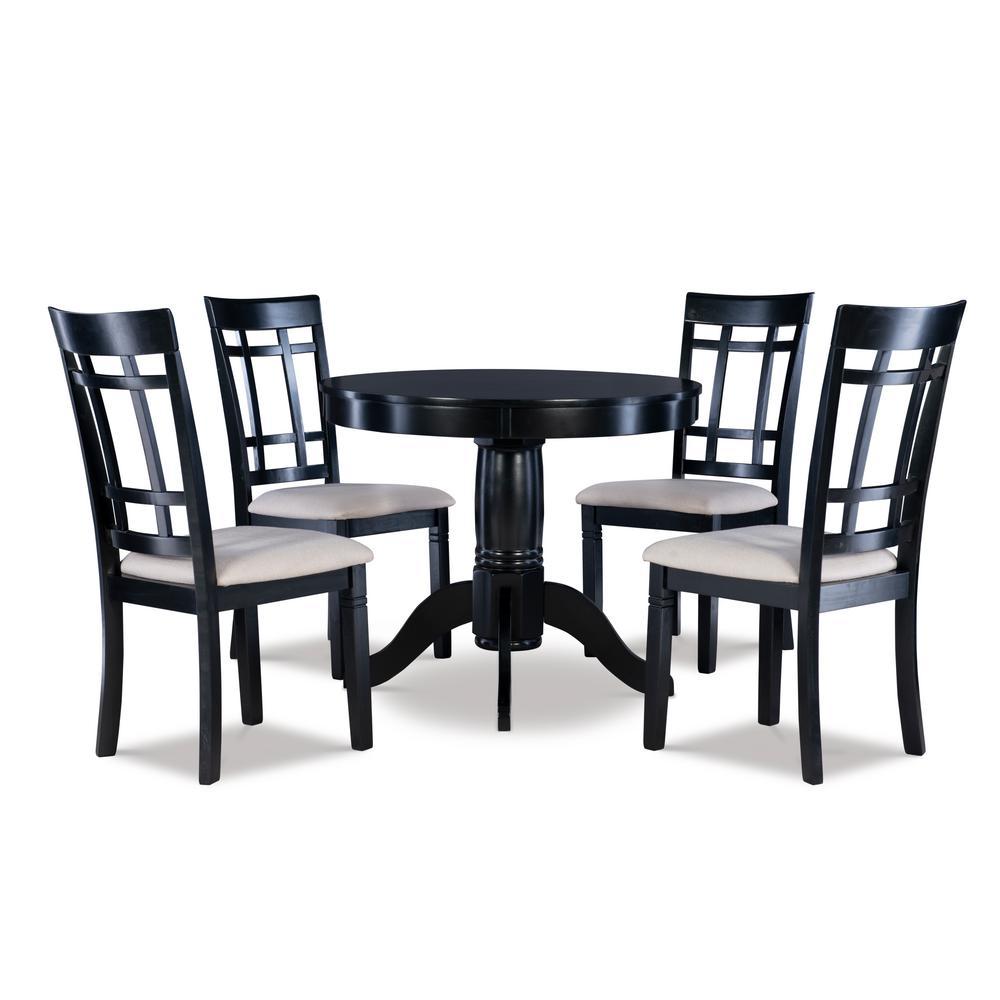 Gurley Black 5PC Dining Set