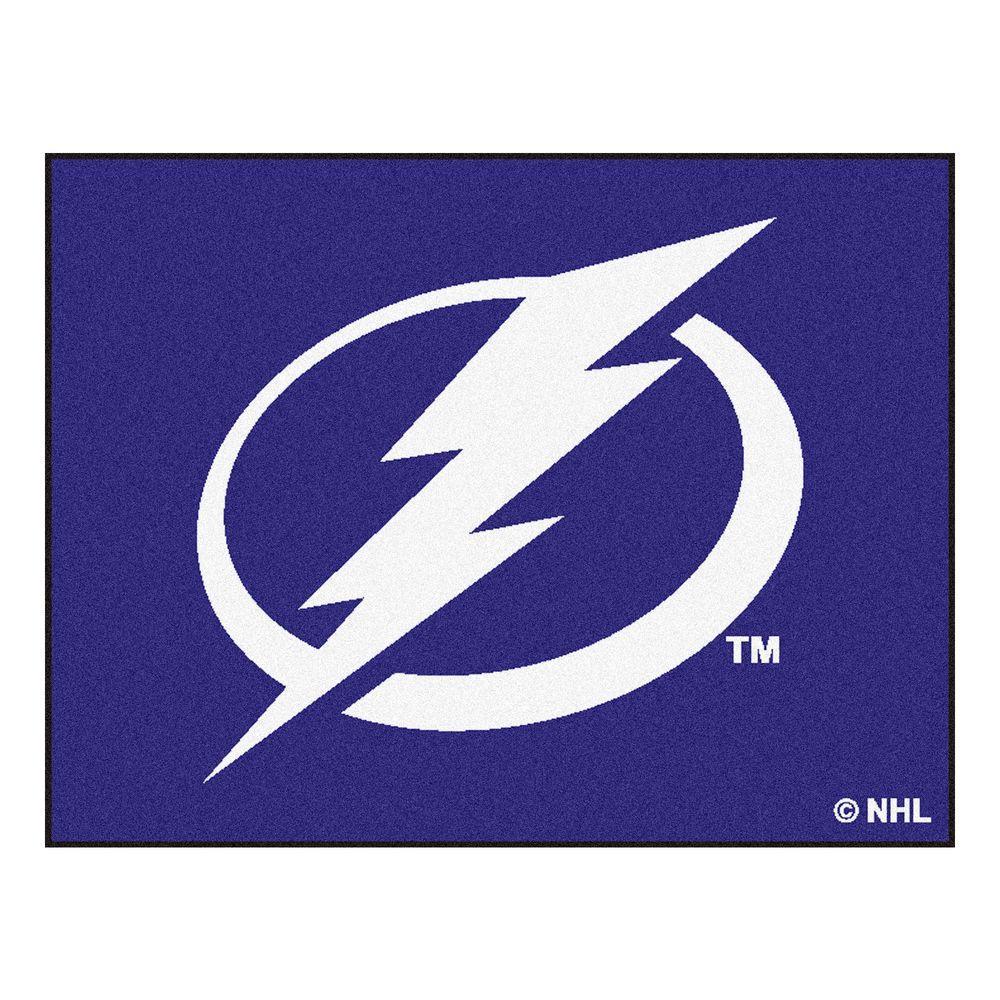 NHL Tampa Bay Lightning Blue 3 ft. x 4 ft. Indoor All Star Area Rug