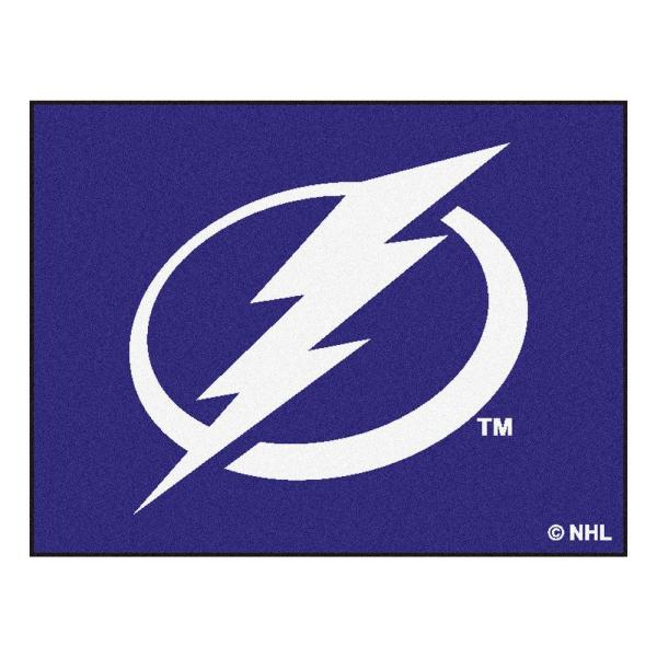 NHL Tampa Bay Lightning Blue 3 ft. x 4 ft. Indoor All Star Area Rug
