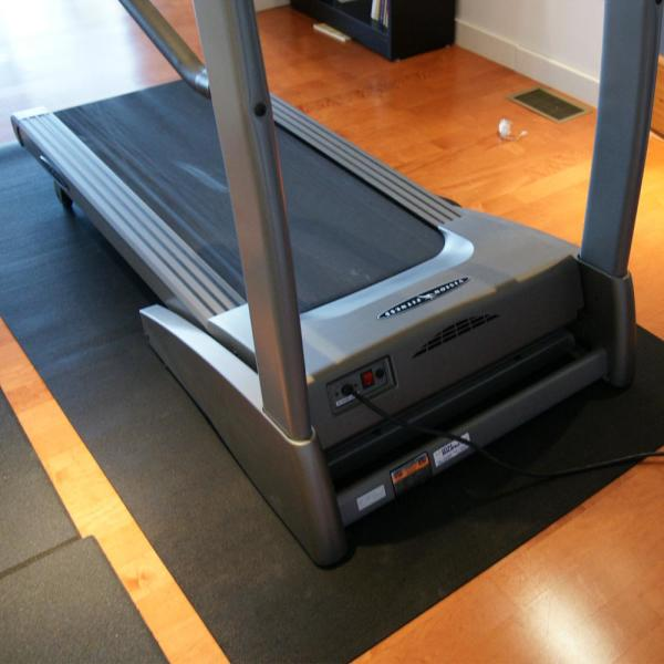 Rubber Cal Treadmill Mat 3 16 In X 48