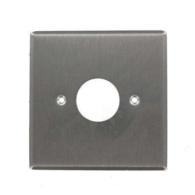 2-Gang 1 Single Receptacle, Standard Size Wall Plate - Stainless Steel