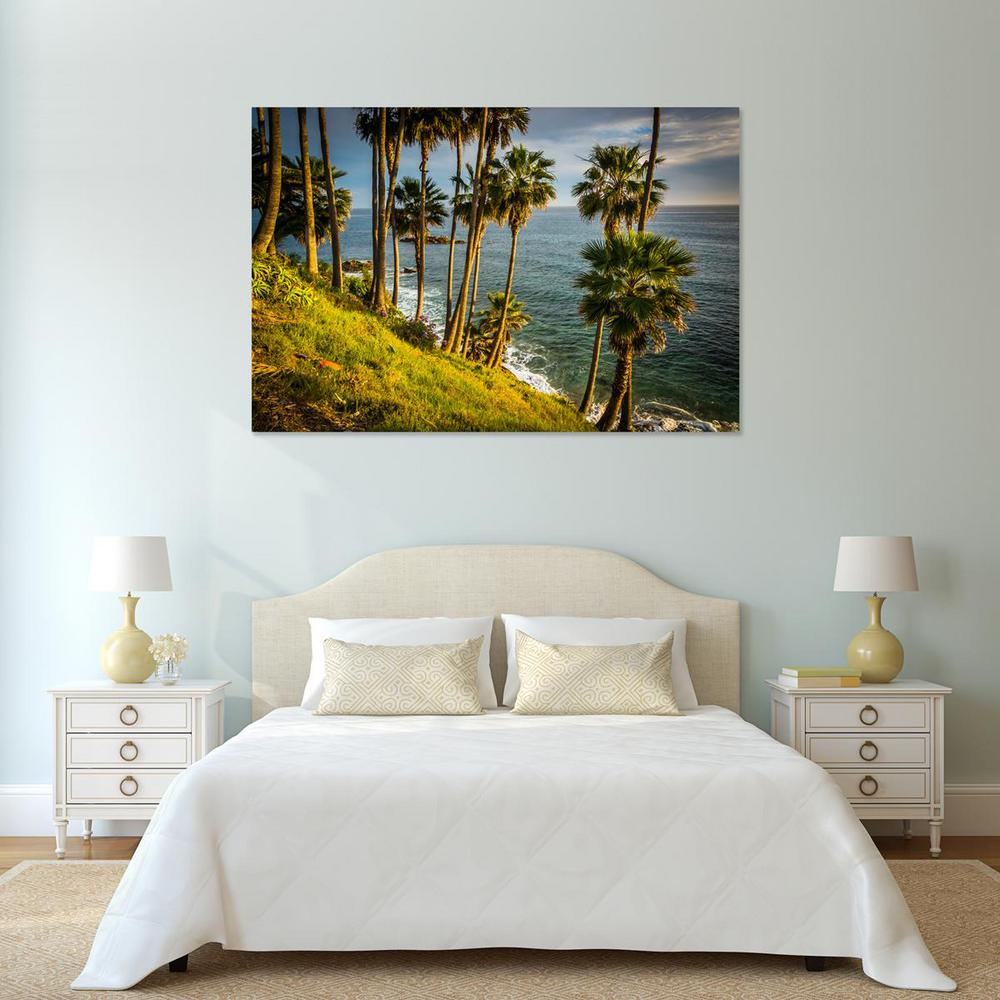 "24 in. x 36 in. ""Palm trees hanging over the Pacific,"